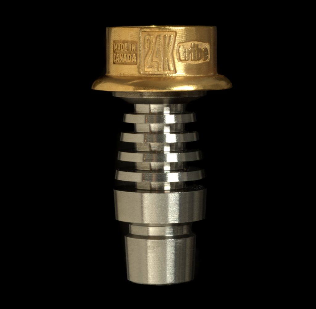 tribe 24k gold dabbing nail on stem adapter