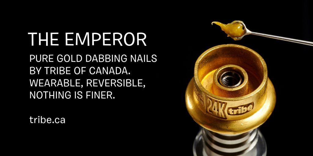 tribe 24k solid gold dabbing nail