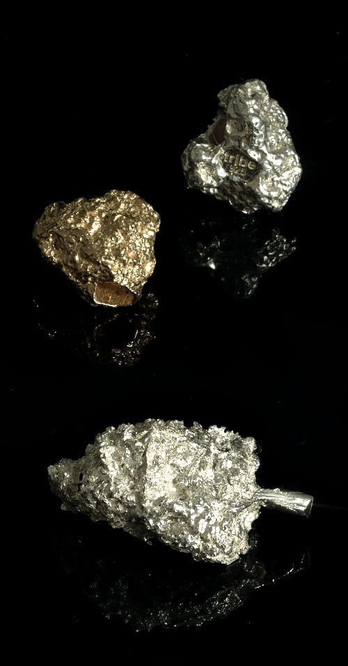18K gold and silver cannabis buds by tribe