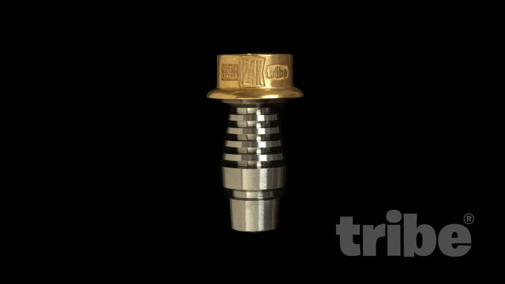 tribe 24k gold dabbing nail on adapter stem