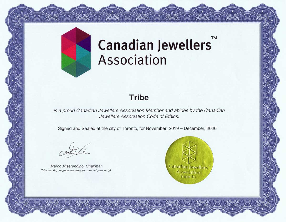 tribe canadian jewellers association member