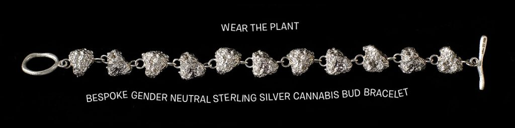 Cannabis Bud Bracelet 925 Sterling Silver by TRIBE