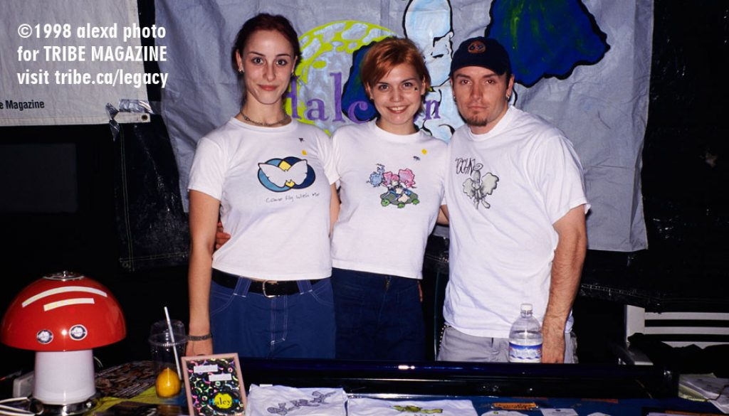 halcyon booth at rave 1998