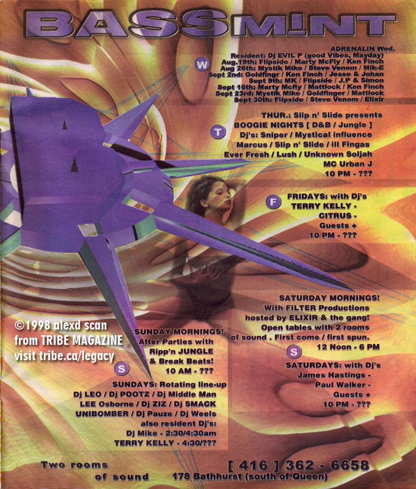 bassmint tribe ad 1998