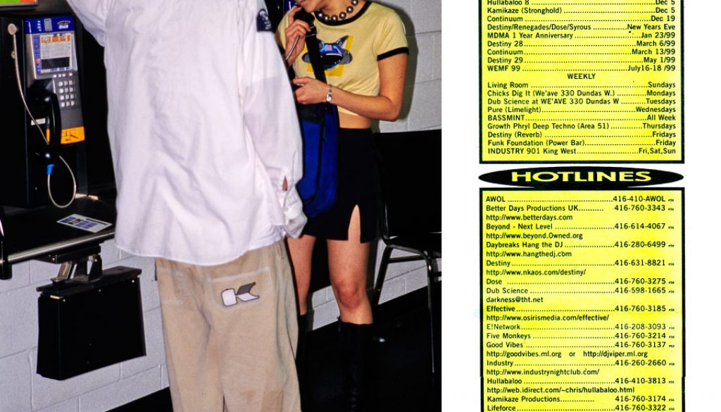rave hotlines in toronto august 1998