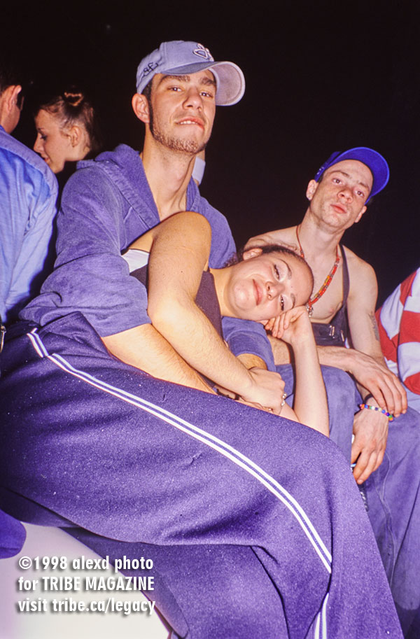 ravers at liquid adrenaline 1998