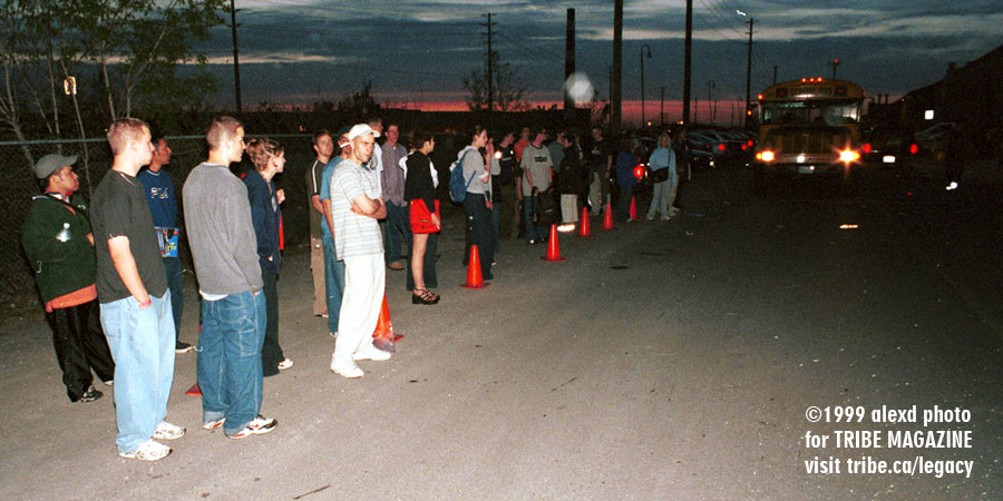 waiting for the shuttle bus home 1999