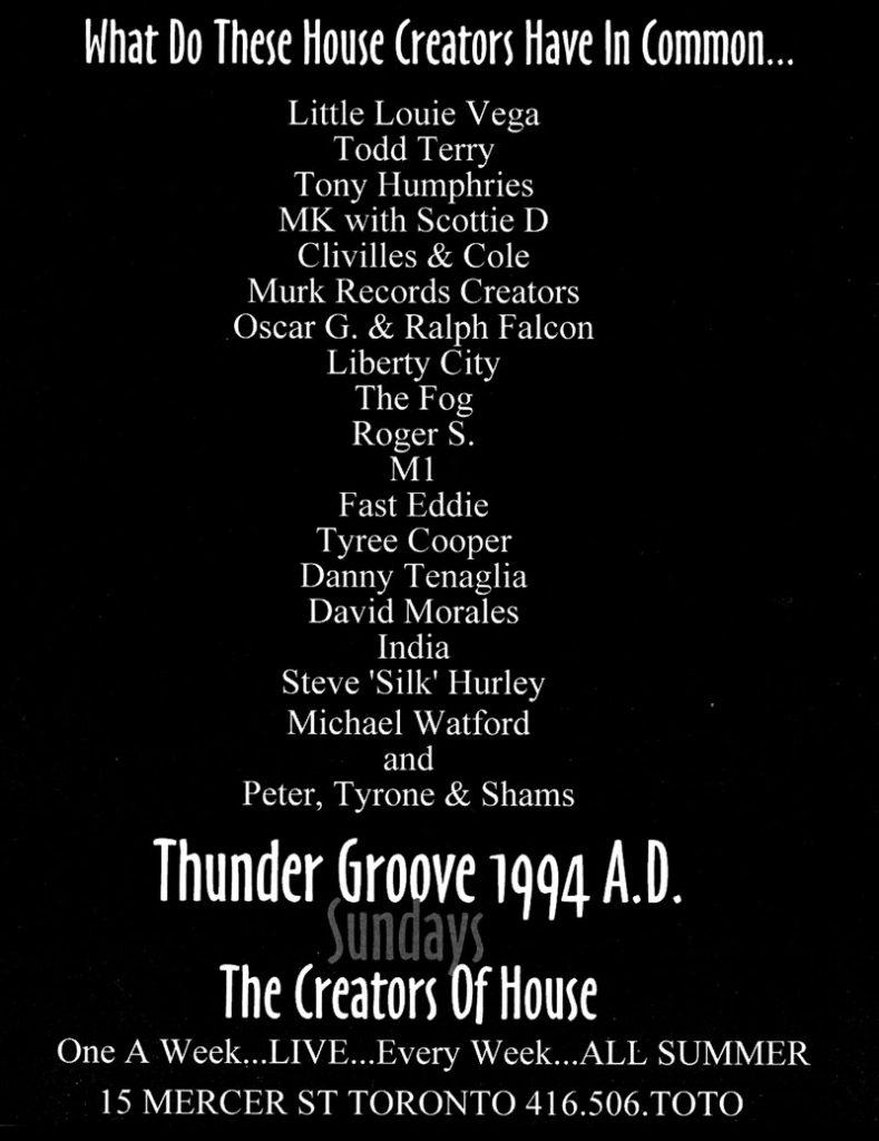 Thundergroove Full Page TRIBE MAGAZINE Ad Toronto 1994
