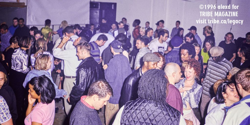 TRIBE 3 Year Anniversary Party, Atlantic Avenue Warehouse Toronto 1996