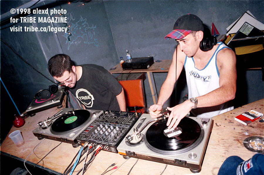 djs d-monic and jelo bassmint toronto 1998