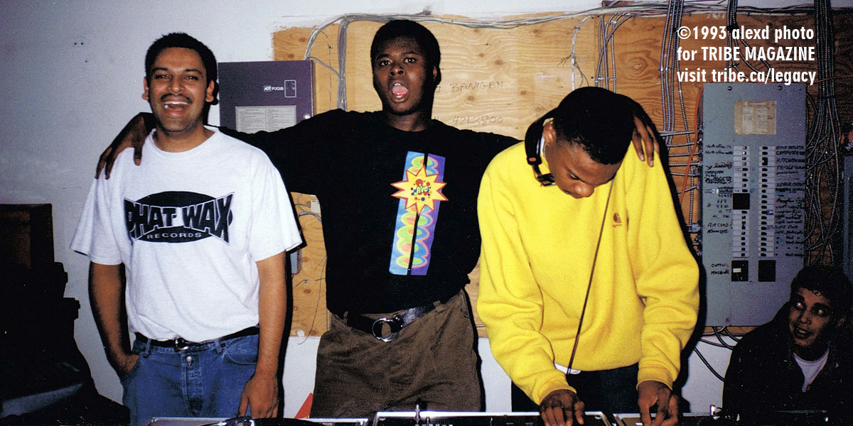 Shams Tharani Spencer Kincey Tyrone Solomon Warehouse Party Toronto 1993