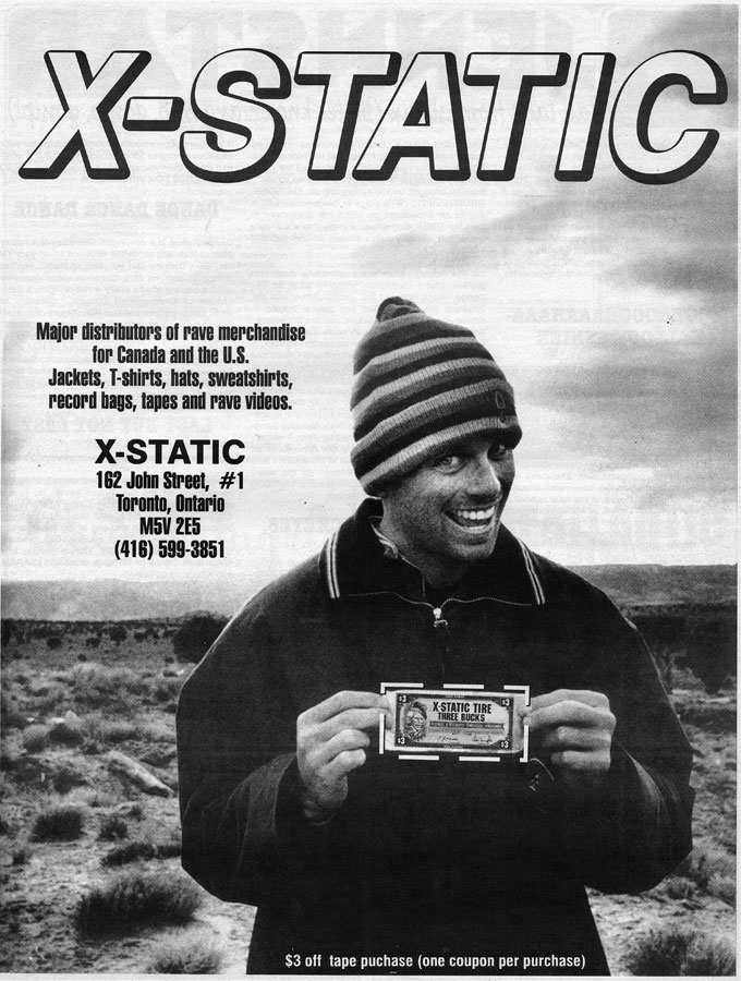 x-static canada's first rave store toronto 1994