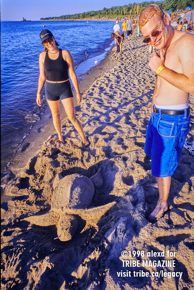 WEMF beach turtle kodachrome