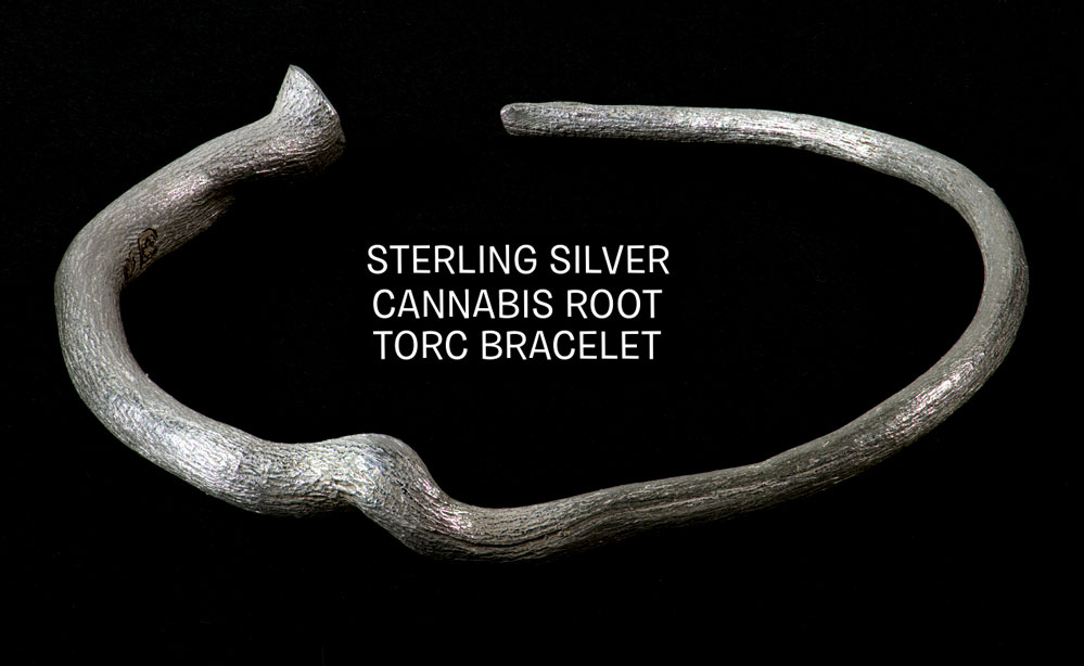 tribe gold cannabis jewelry silver root torc