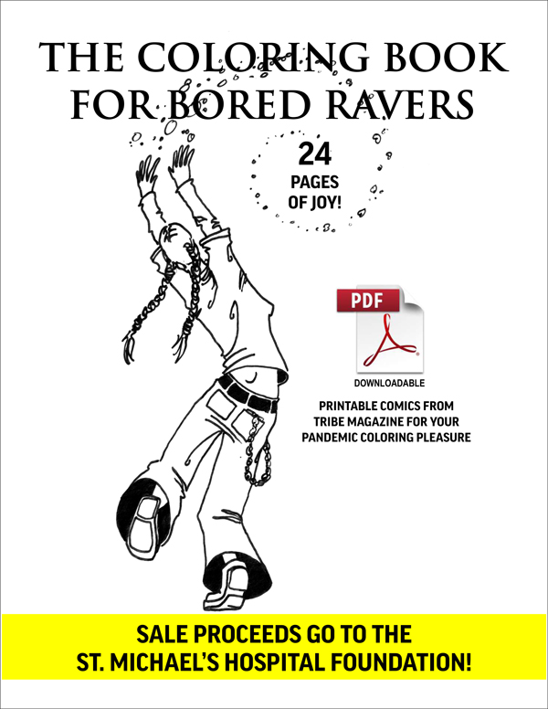 the coloring book for bored ravers