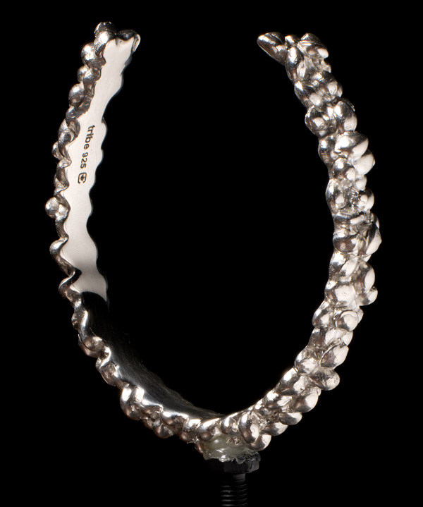 Seed Viking Sterling Silver Cannabis Seed Torc Bracelet